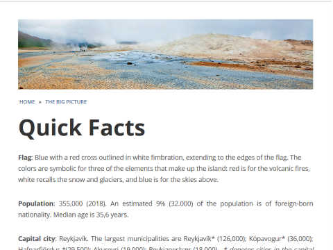 Quick Facts about Iceland